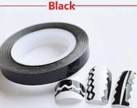 Фольга на липкой основе фигурная в рулоне, черная