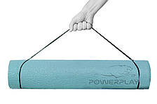Коврик для йоги та фитнесу PowerPlay 4010 (173*61*0.6) Зелений