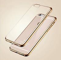 """Чехол силиконовый Ультратонкий Fashion Case Gold Frame для iPhone 6/6S (4,7""""), фото 1"""