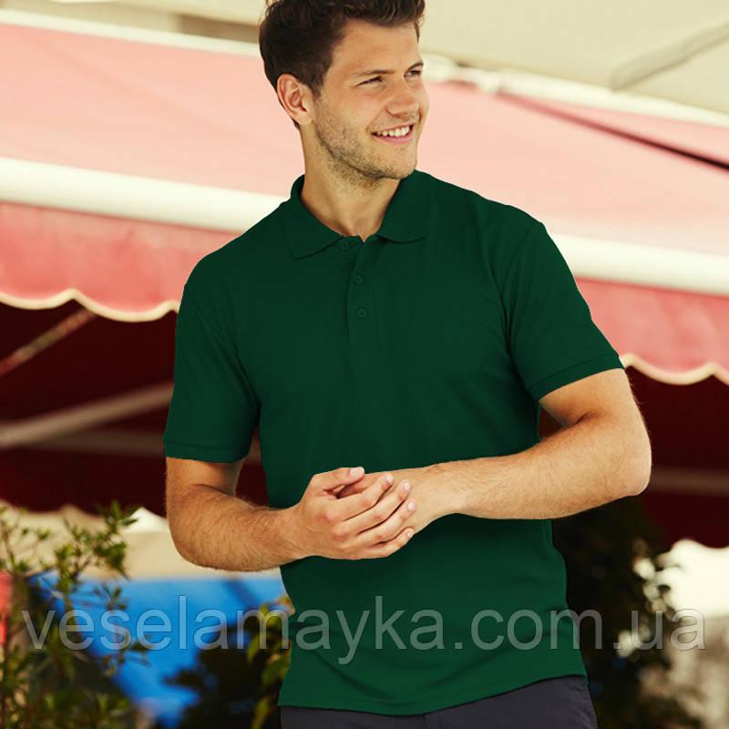 Темно-зелена чоловіча сорочка поло Premium