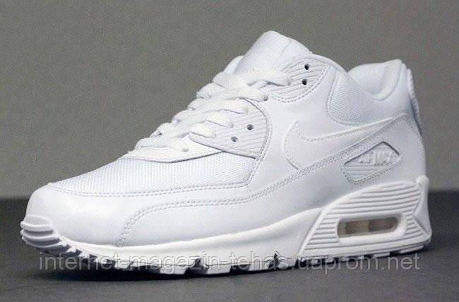 Чоловічі кросівки Nike Air Max 90 Essential Triple White (537384-111)  оригінальні - 50778b9d6d53a