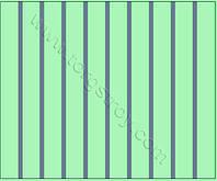 Реечный потолок: светло-зеленый со светло-синей вставкой, фото 1