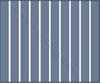 Реечный потолок: светло-синий с белой вставкой, фото 1