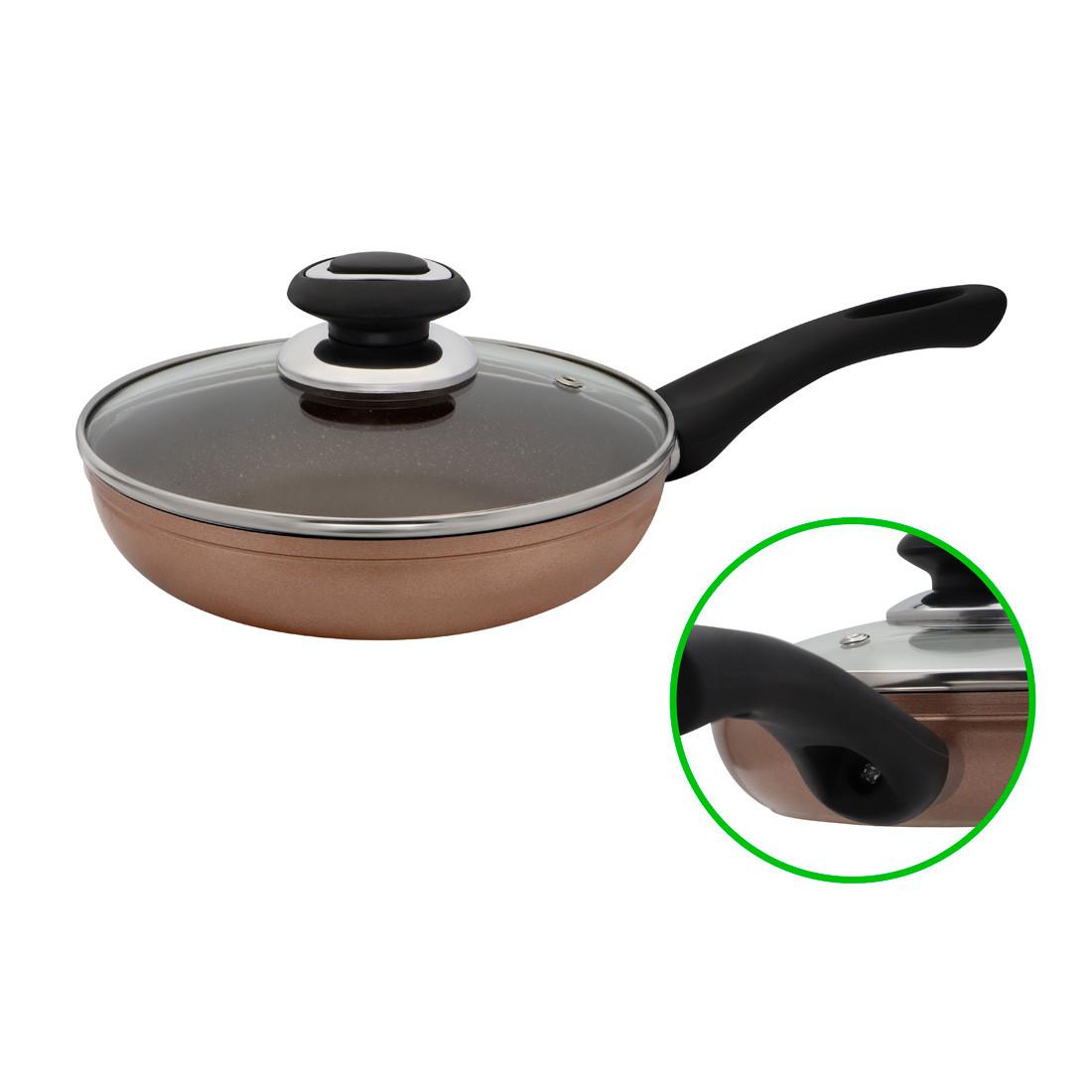 Сковорода с мраморным покрытием D 20 Бронза FPM-202