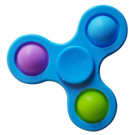 Опт Simple Dimple Антистрес Іграшка Сімпл Дімпл - Pop It - Поп Іт - Попит - Popit) - Синій Спиннер - 3, фото 2