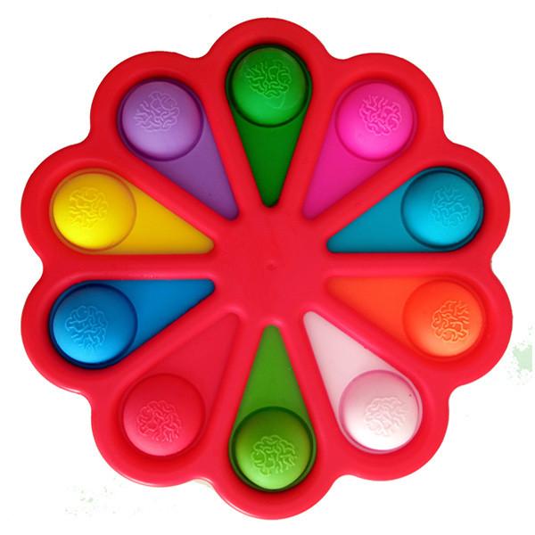 Опт Simple Dimple Антистресс Игрушка Симпл Димпл - (Pop It - Поп Ит - Попит - Popit) - Красный Цветок - 10