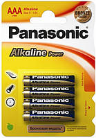 Батарейки   LR03 PANASONIC Alkaline Power 1x4 шт.