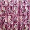 Декоративна 3Д панель 5 шт. Бамбукова кладка Рожева (самоклеючі пластикові панелі 3d під бамбук) 700x700x8 мм