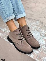 Ботинки женские замшевые цвет капучино внутри кож подклад, фото 3