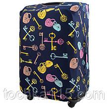 Чехол для чемодана S/M/L Чехол для малого, среднего и большого чемодана Золотой ключик