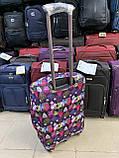 Чехол для чемодана до 65 см, чехол на средний чемодан размер М, яркий чехол принт на чемодан абстракция, фото 2