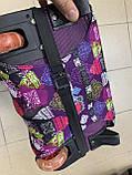 Чехол для чемодана до 65 см, чехол на средний чемодан размер М, яркий чехол принт на чемодан абстракция, фото 3