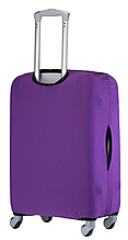 Чехол фиолетовый однотонный для малого чемодана размер S до 55 см