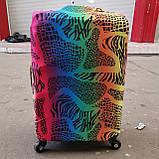 Чехол на средний чемодан Париж размер М 55-65 см, чехол нейлоновый, накидка на чемодан, фото 4
