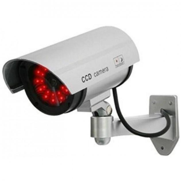 Камера спостереження муляж обманка 1100 CAMERA DUMMY працює від батарейок миготливий світлодіод прихована камера муляж