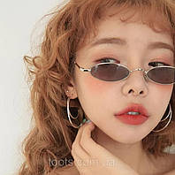 Очки солнцезащитные Aedoll в тонкой оправе с овальными линзами очки с зелеными и коричневыми линзами