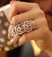 Кольцо на фалангу пальца Цветы