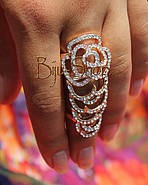 Кольцо на фалангу пальца Цветы, фото 4