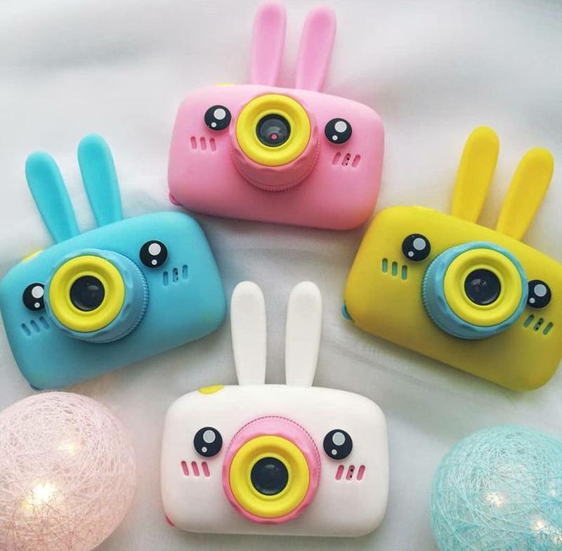 Детский цифровой фотоаппарат фото-видеокамера Зайчик baby camera белый