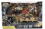 Детский Набор военной техники для мальчиков Танк Вертолет Солдат аксессуары, фото 3