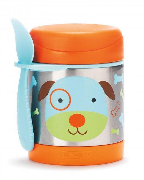 Термос для їжі з ложкою-виделкою Skip Hop, 325 мл (Zoo Insulated Little Kid Food Jar) - Dog (Собачка), 12м+