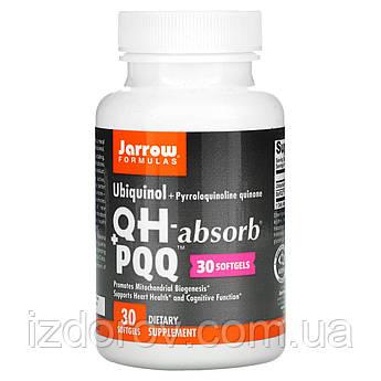 Jarrow Formulas, QH-Absorb + PPQ, убихинол і пирролохинолинхинон, 30 капсул