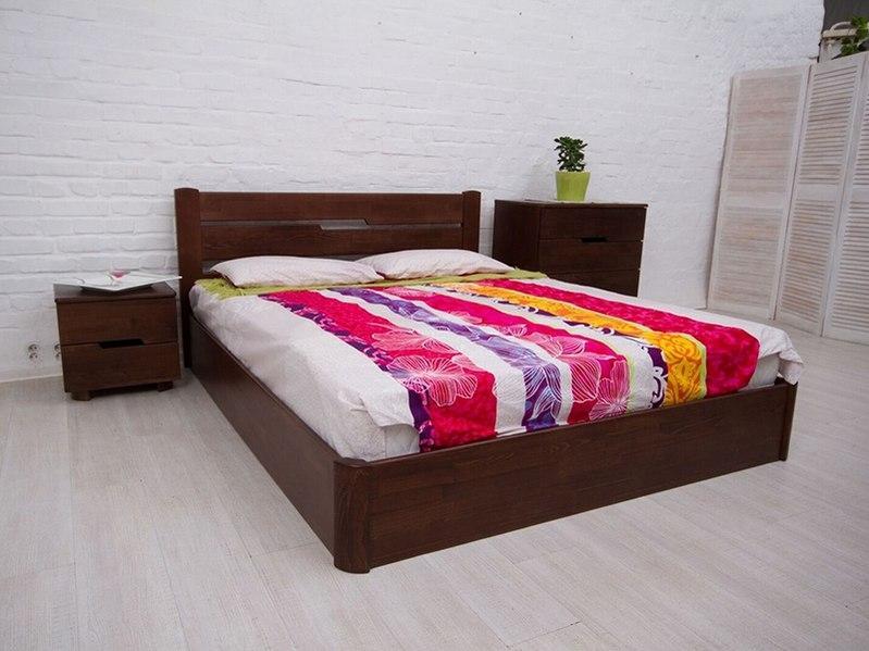 Деревянная кровать из бука  Олимп Айрис с подъемным механизмом