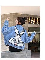 Женская джинсовая куртка банни