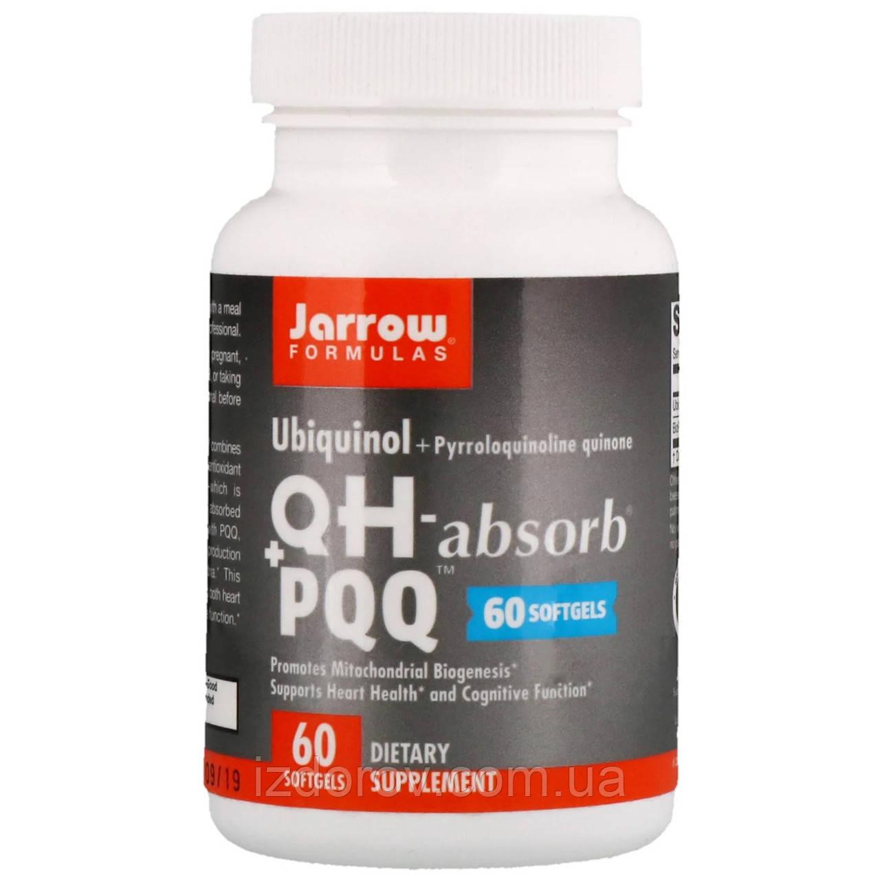 Jarrow Formulas, QH-Absorb + PPQ, убихинол и пирролохинолинхинон, 60 капсул
