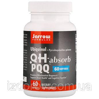Jarrow Formulas, QH-Absorb + PPQ, убихинол і пирролохинолинхинон, 60 капсул