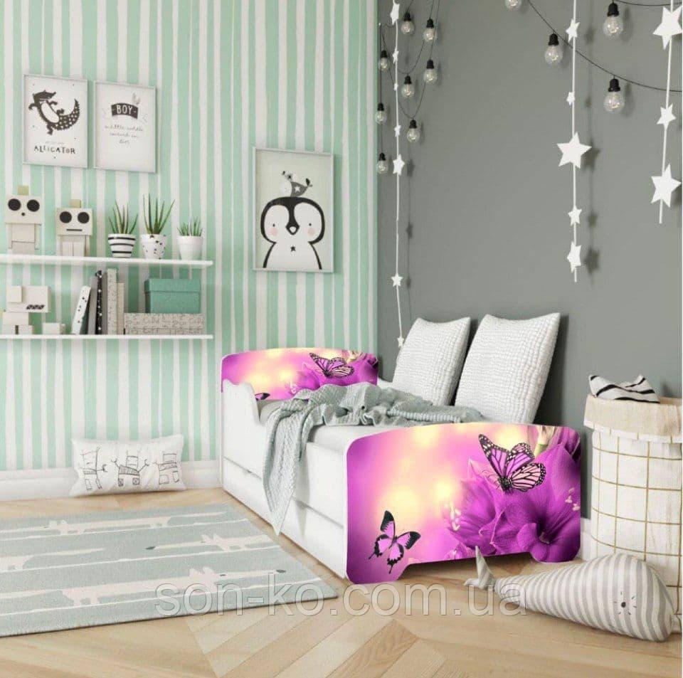 Кровать детская дисней Бабочки. Бесплатная доставка