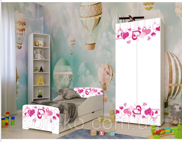 Кровать детская дисней Сердечки. Бесплатная доставка