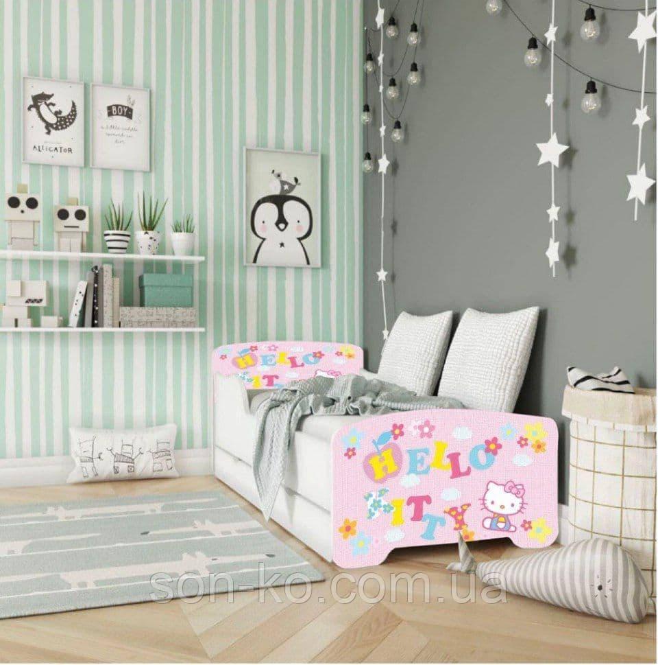 Ліжко дитяче дісней Хеллоу Кітті. Безкоштовна доставка