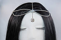 Витончена Тика на голову Східне прикраса Кристал срібло №78