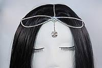Витончена Тика на голову Східне прикраса Кристал срібло №78, фото 1