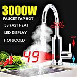 Проточный водонагреватель кран 360 с экраном хромированный пластик Delimano RX-011, фото 2