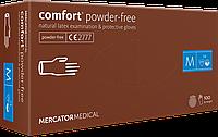 Перчатки латексные без пудры Comfort powder-free размер М, 100 шт.