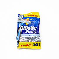Чоловічі станки для гоління Gillette Blue3 Smooth, 12 шт.