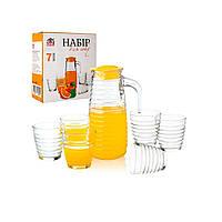 Набір для соку (графин 820 мл, 6 склянок по 230 мл)