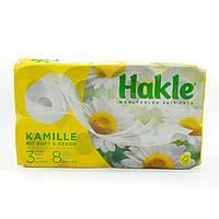 Туалетний папір Hakle Kamille 3 шарова з ароматом ромашки, 8 рул.