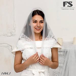 Нежный белый платок на венчания, на крестины, в храм  Елла