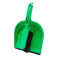 Совок з гумкою + щітка Konex Оптима Матеріал Пластик