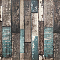Декоративная 3Д панель стеновая Синее Дерево 02 5 шт моющиеся 3d панели для стен Прованс текстура 700x700x6мм, фото 1