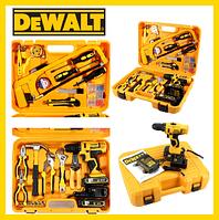 Шуруповерт DeWALT DCD791 (24V, 5AH) з набором інструментів (КІТ-9п) Шуруповерт Деволт DCD791 Девольт