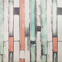 3Д панель стінова 5 шт. декоративна М'ятний Прованс ПВХ (3d панелі цегла для стін) під дошки 700*700*5 мм, фото 1