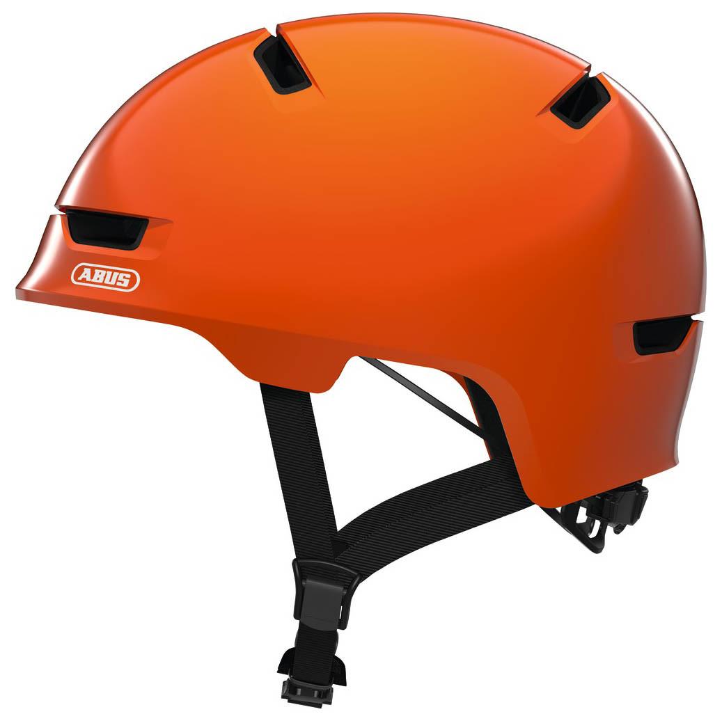 Велосипедный детский шлем ABUS SCRAPER 3.0 KID S 51-55 Shiny Orange