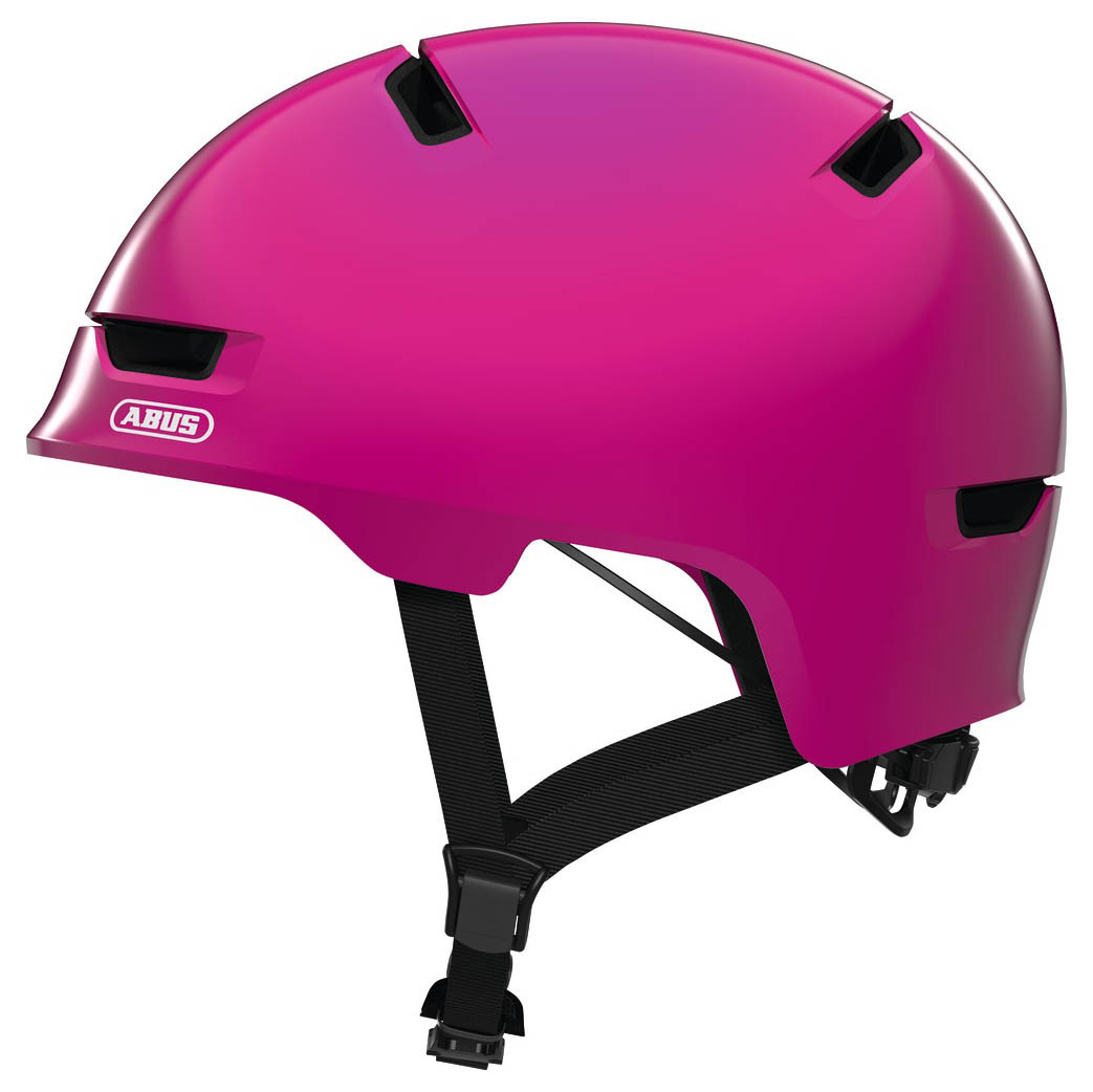 Велосипедний дитячий шолом ABUS SCRAPER 3.0 KID S 51-55 Shiny Pink