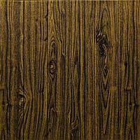 3Д Панель 5 шт. декоративная под дерево Темный Дуб (самоклеющиеся 3d панели для стен доски) 700x700x7 мм