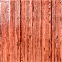 Стеновая 3Д Панель 5 шт. декоративная Красное Дерево (самоклеющиеся 3d панели для стен) 700x700x7 мм