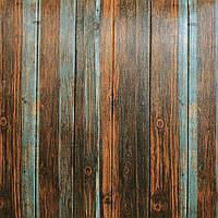 Стінова 3D Панель 5 шт. Дерево під Старовину скандинавський самоклеючі 3d панелі для стін дошки 700x700x7 мм, фото 1